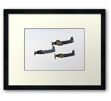 Skyraiders Framed Print
