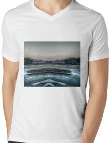 Mirrored Mens V-Neck T-Shirt