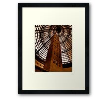 Coops Shot Tower - Angle #4 (sepia), Melbourne - The HDR Experience Framed Print