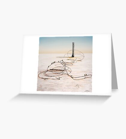 The Hippies Pilgrimage to Lake Eyre Greeting Card