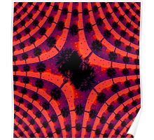 Fiery Party (Palm Trees) - Fractal Poster