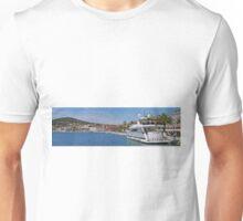 Waterfront at Split, Croatia (Panorama) Unisex T-Shirt