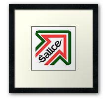 Salice shirt Framed Print