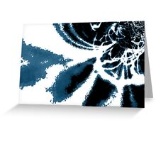 Blue Design Greeting Card