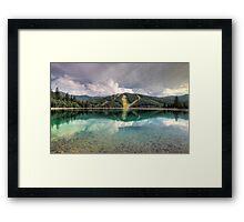 Mirrored pistes Framed Print