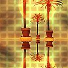 Palm Trees in Pots by CarolM