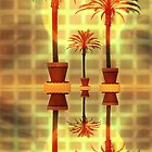 Palm Trees in Pots by CarolM