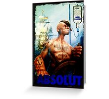 Popeye Absolut Greeting Card