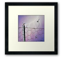 Defying Electrifying Framed Print