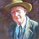 &#x27;Portrait of Tom Tehan&#x27; by Lynda Robinson