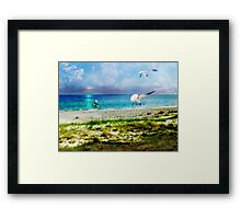 On Canvas Wings I Fly Framed Print