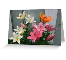 Assorted Lilies Greeting Card