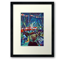 GYMPIE MUSTER -Annie Piper in the Blues Tent Framed Print