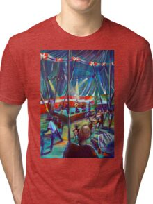 GYMPIE MUSTER -Annie Piper in the Blues Tent Tri-blend T-Shirt