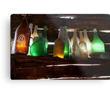Bottles in the Shed  Metal Print