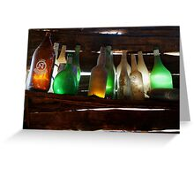 Bottles in the Shed  Greeting Card