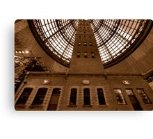 Things Are Looking Up - Coops Shot Tower Melbourne Australia (Sepia) - The HDR Experience Canvas Print