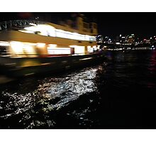 Sydney Ferry in a blur Photographic Print