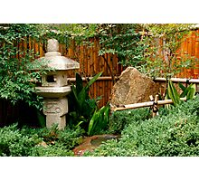 Japanese garden feature Photographic Print