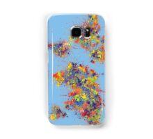 World Map brush strokes Samsung Galaxy Case/Skin