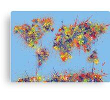World Map brush strokes Canvas Print