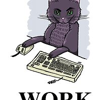 Cat at Work by annaliesemaree