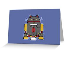 """FUR2-D2"" Feline Droid Greeting Card"
