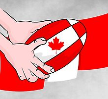Canada Rugby Flag by piedaydesigns
