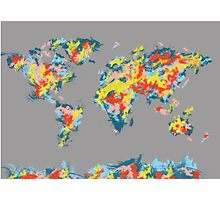 world map brush strokes 2 Photographic Print