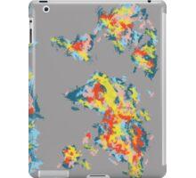 world map brush strokes 2 iPad Case/Skin