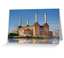 Old Power Station on the Thames - London, England Greeting Card