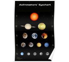 Eye Chart- Astronomy Poster