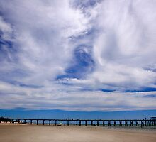 Beach and Pier Landscape by John Wallace