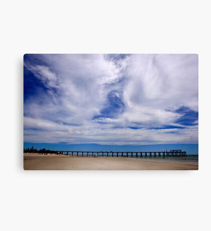 Beach and Pier Landscape Canvas Print