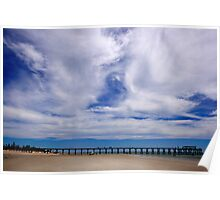 Beach and Pier Landscape Poster