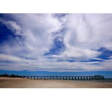 Beach and Pier Landscape Photographic Print