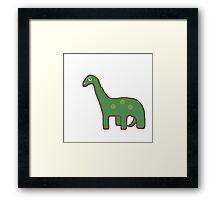 Dinosaur baby - Jurassic art - brontosaurus Framed Print