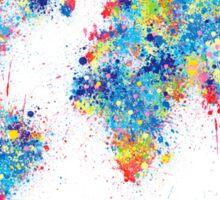 world map color splats Sticker