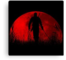 Red moon v2 Canvas Print
