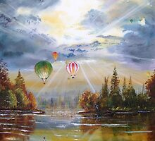 Hot air balloons. by Joe Trodden