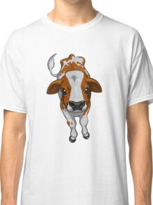 Calf Series - Brown and White Classic T-Shirt