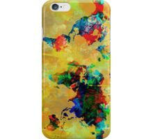 World Map watercolor 5 iPhone Case/Skin