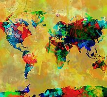 World Map watercolor 5 by BekimART