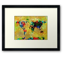World Map watercolor 5 Framed Print