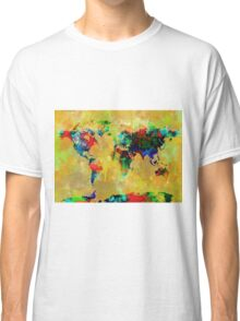 World Map watercolor 5 Classic T-Shirt