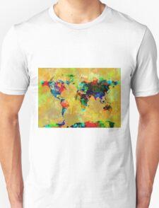 World Map watercolor 5 T-Shirt