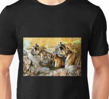 Trio of Tiger Cubs, Kanchanaburi, Thailand  Unisex T-Shirt