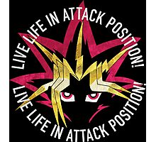 Yugi - Live life in attack position! Photographic Print