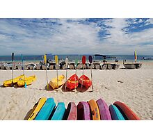 Colourful Canoes Photographic Print