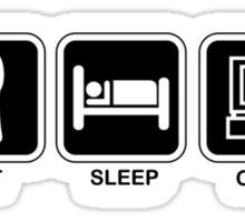 Eat, Sleep, Code Sticker